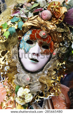 Venice Carnival Mask - Colorful man