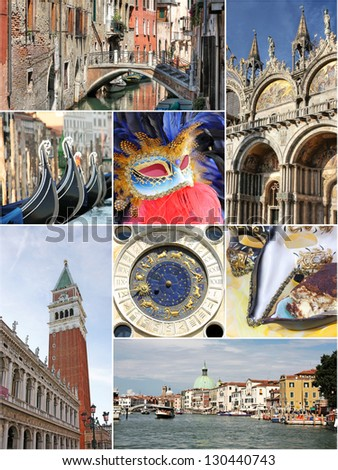 Venice collage, Italy
