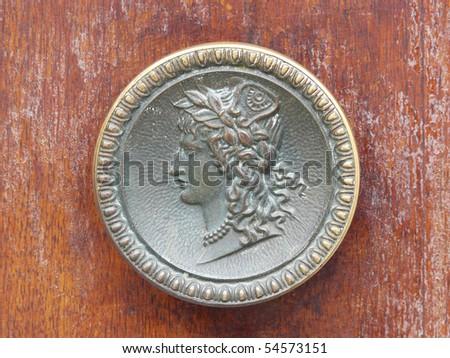 venice doors, door handles - stock photo
