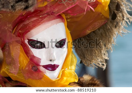 VENICE - FEBRUARY 17: Person in Venetian costume attends the Carnival of Venice, festival starting two weeks before Ash Wednesday and ends on Shrove Tuesday, on February 17, 2007 in Venice, Italy.