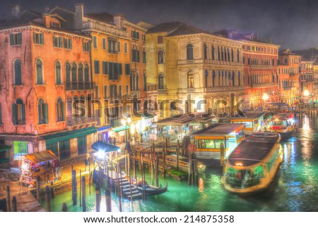 Venice Grand Canal in hdr - stock photo