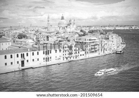 Venice in black and white, Venice Italy - stock photo