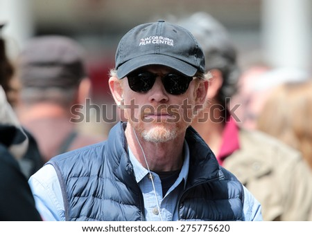 """VENICE, ITALY - APRIL 28: Ron Howard during the filming of """"Inferno"""" in Venice, Italy 28 april 2015 - stock photo"""