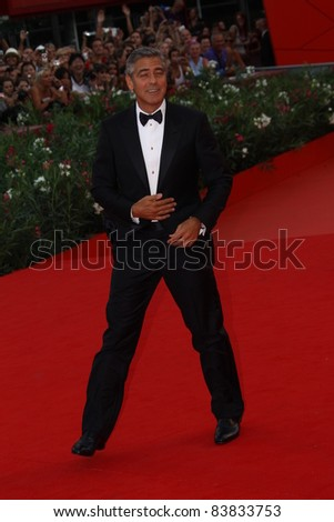 VENICE, ITALY - AUGUST 31: Actor George Clooney attends 'The Ides Of March' premiere during the 68th Venice Film Festival at Palazzo del Cinema on August 31, 2011 in Venice, Italy.