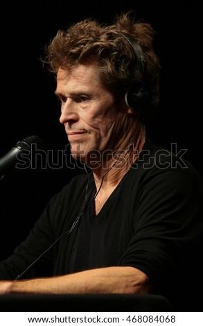 VENICE, ITALY - AUGUST 11: actor Willem Dafoe during a pubblic meeting at the Teatro Piccolo Arsenale on 11 August, 2016 in Venice, Italy