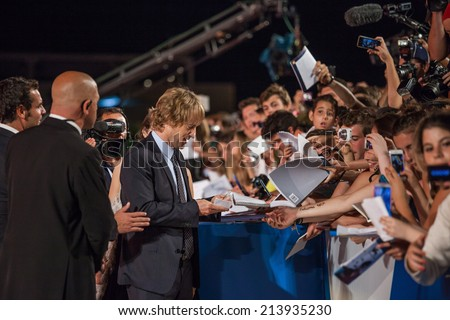 VENICE, ITALY - AUGUST 29: Owen Wilson attends 'She's Funny That Way' Premiere during the 71st Venice Film Festival at Sala Grande on August 29, 2014 in Venice, Italy