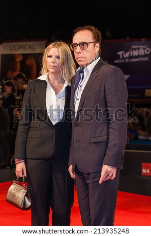 VENICE, ITALY - AUGUST 29: screenplay Louise Stratten, director Peter Bogdanovich attend the 'She's Funny That Way' - Premiere during the 71st Venice Film Festival on August 29, 2014 in Venice, Italy
