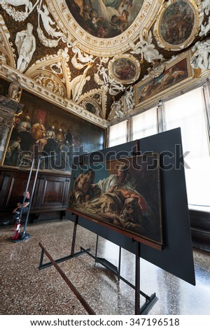 VENICE,ITALY-CIRCA SEPTEMBER 2015: through the halls of Doges Palace