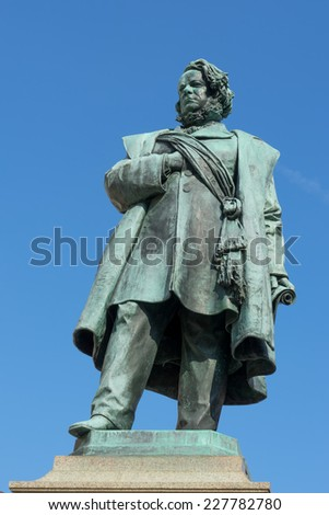 VENICE, ITALY/EUROPE - OCTOBER 12 : Statue of Daniele Manin in Venice Italy on October 12, 2014