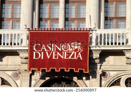 VENICE ITALY-JANUARY 26: Palace Palazzo Vendramin Calergi  is now the Casino on January 26, 2015 in the Grand Canal, Venice