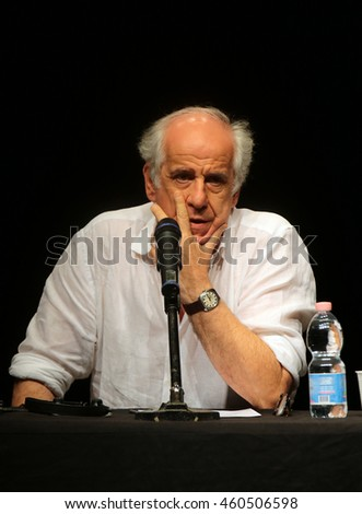 VENICE, ITALY - JULY 27: italian actor Toni Servillo during a pubblic meeting at the Teatro Piccolo Arsenale on 27 July, 2016 in Venice, Italy