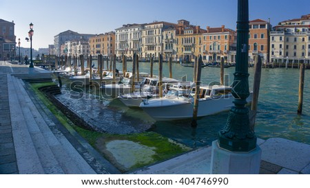 VENICE ,Italy, March 18 2016: Grand Canal of Venice, Italy