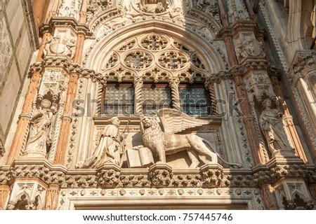 Venice Italy October 23 Lion St Stock Photo Royalty Free 757445746