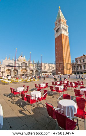 Venice Italy Saint Marco square picturesque view