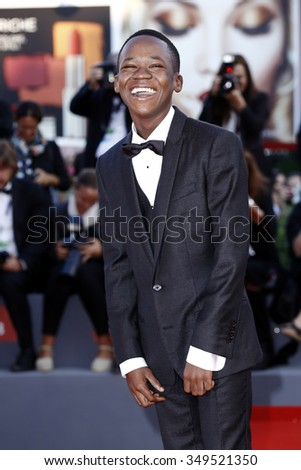 VENICE, ITALY - SEPTEMBER 12: Abraham Attah attends the closing ceremony during the 72nd Venice Film Festival on September 12, 2015 in Venice, Italy.
