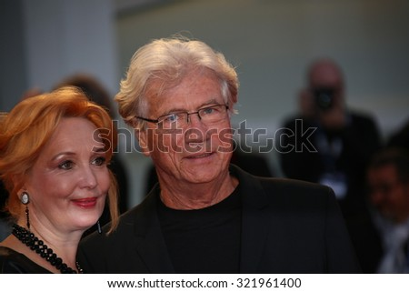 Venice, Italy - 10 September 2015:  Actor Jurgen Prochnow and Verena Wrengler attend 'Remember' premiere during the 72nd Venice Film Festival