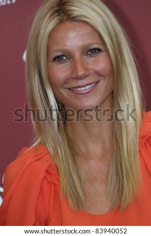 VENICE, ITALY - SEPTEMBER 03: Actress Gwyneth Paltrow poses at the 'Contagion' photocall during the 68th Venice Film Festival at the Palazzo del Cinema on September 3, 2011 in Venice, Italy - stock photo