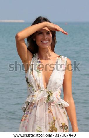 VENICE, ITALY - SEPTEMBER 03: Alessandra Ambrosio during 72th Venice Film Festival 2015 in Venice, Italy - stock photo