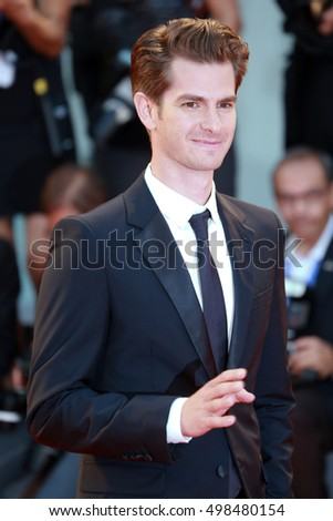 VENICE, ITALY - SEPTEMBER 04: Andrew Garfield  during the 73th Venice Film Festival 2016 in Venice, Italy