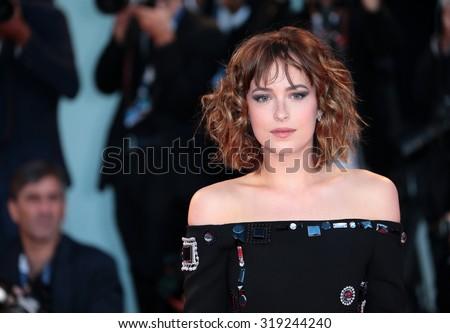 VENICE, ITALY - SEPTEMBER 06: Dakota Johnson during the 72th Venice Film Festival 2015 in Venice, Italy - stock photo