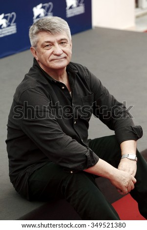 VENICE, ITALY - SEPTEMBER 4: Director Aleksandr Sokurov attends the photo-call of 'Francofonia' during the 72nd Venice Film Festival on September 4, 2015 in Venice, Italy.
