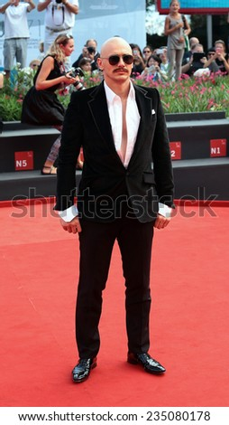 VENICE, ITALY - SEPTEMBER 05: James Franco attends 'The Sound And The Fury' Premiere during the 71st Venice Film Festival at Sala Grande on September 05, 2014 in Venice, Italy  - stock photo