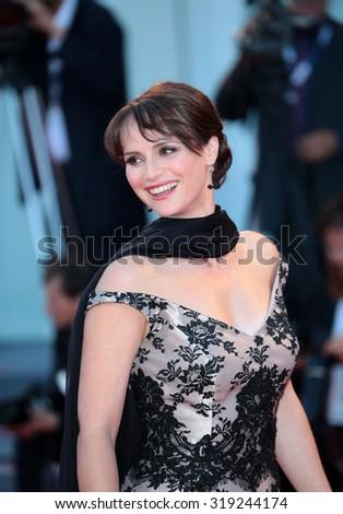 VENICE, ITALY - SEPTEMBER 06: Lorena Bianchetti during the 72th Venice Film Festival 2015 in Venice, Italy - stock photo