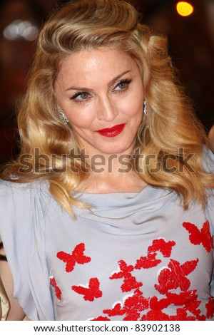VENICE, ITALY - SEPTEMBER 1:  Madonna attends the 'W.E.' premiere at the Palazzo Del Cinema during the 68th Venice Film Festival on September 1, 2011 in Venice, Italy. - stock photo