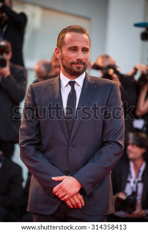 Venice, Italy - 06 September 2015: Matthias Schoenaerts attends a premiere for 'A Bigger Splash' during the 72nd Venice Film Festival