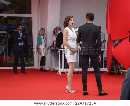 VENICE, ITALY - SEPTEMBER 03: Milla Jovovich attends the 'Cymbeline' premiere during the 71st Venice Film Festival on September 3, 2014 in Venice, Italy.