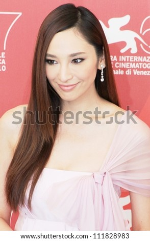 VENICE, ITALY - SEPTEMBER 04: Pace Wu posing for photographers at 67th Venice Film Festival September 04, 2010 in Venice, Italy.