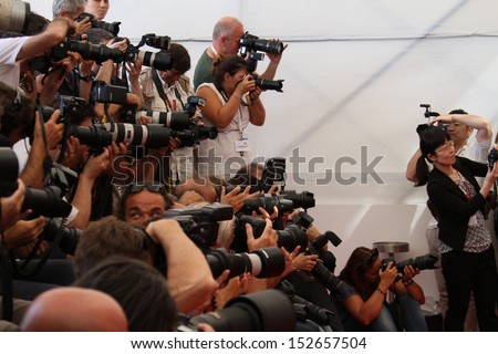 VENICE, ITALY - SEPTEMBER 03: Photographer attends 'Under The Skin' Photocall during the 70th Venice International Film Festival at Palazzo del Casino on September 3, 2013 in Venice, Italy.