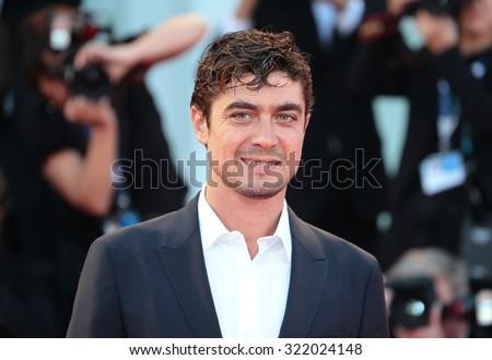 VENICE, ITALY - SEPTEMBER 11: Riccardo Scamarcio during the 72th Venice Film Festival 2015 in Venice, Italy - stock photo