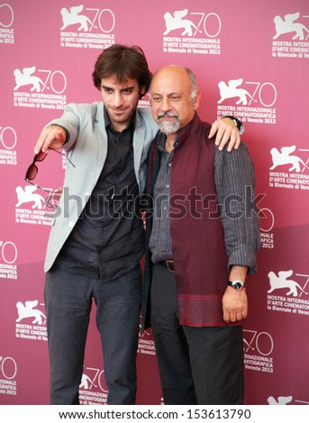 VENICE, ITALY - SEPTEMBER 06: Shahram Mokri and Babak Karimi attend 'Fish and Cat' Photocall at 70th Venice International Film Festival at Palazzo del Casino on September 6, 2013 in Venice, Italy.