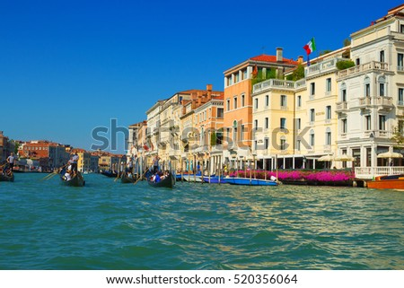 Venice, Italy - 8 September, 2016: The Grand Canal of Venice, Italy