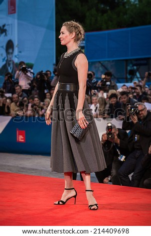 VENICE, ITALY - SEPTEMBER 01: Uma Thurman attends the 'Nymphomaniac: Volume 2 - Directors Cut' Premiere during the 71st Venice Film Festival on September 1, 2014 in Venice, Italy.