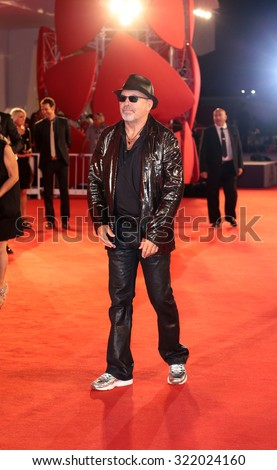 VENICE, ITALY - SEPTEMBER 11: Vasco Rossi during the 72th Venice Film Festival 2015 in Venice, Italy