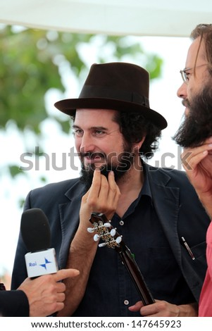 VENICE, ITALY - SEPTEMBER 05: Vinicio Capossela at the Venice Film Festival on September 05, 2012 in Venice, Italy