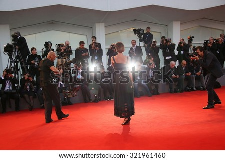 Venice, Italy - 10 September 2015: Winner of the 'L'Oreal Paris per il Cinema' award, Valeria Bilello attends a premiere for 'Remember' during the 72nd Venice Film Festiva - stock photo