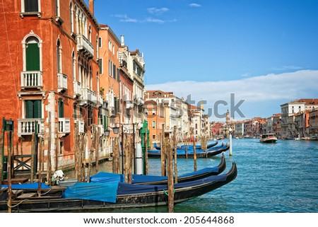 Venice Italy, The grand canal - stock photo