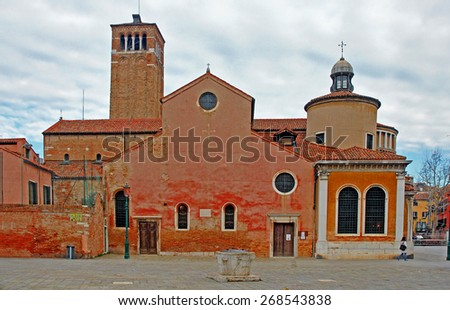 Venice, Italy, the Saint Giacomo Orio church - stock photo