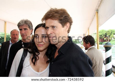 VENICE - SEPTEMBER 03: Actor Willem Dafoe with wife Giada Colagrande during the 67th Venice Film Festival on September 3, 2010 in Venice, Italy.