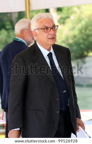 VENICE - SEPTEMBER 10: Biennale President Paolo Baratta during the 66th Venice Film Festival on September 10, 2009 in Venice, Italy.