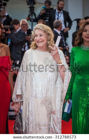 VENICE - SEPTEMBER 02, 2015: Marta Marzotto and Marta Brivio Sforza attends the opening ceremony and premiere of 'Everest' during the 72nd Venice Film Festival