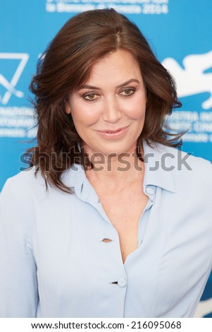 VENICE - SEPTEMBER 3: Sabina Guzzanti at 'La Trattativa' photocall during the 71st Venice Film Festival on September 3, 2014 in Venice.