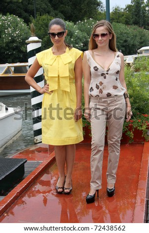 VENICE - SEPTEMBER 03: Singers Chiara Iezzi and Paola Iezzi during the 67th Venice Film Festival on September 3, 2010 in Venice, Italy.