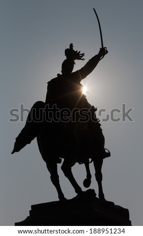 Venice - Silhouette of Monument to Victor Emmanuel II by Ettore Ferrari from year 1887
