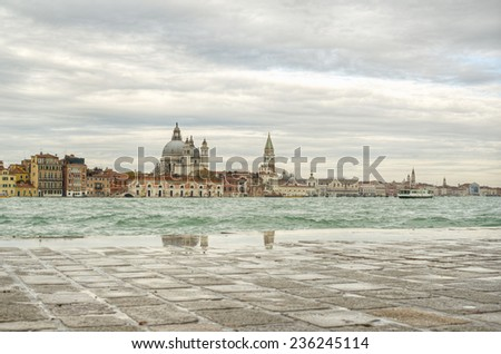 Venice (Venezia) at a rainy day, Italy, Europe