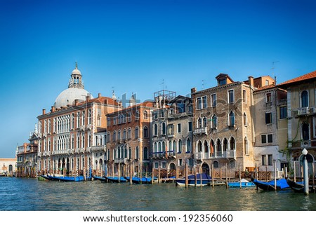Venice view from Canal Grande - stock photo