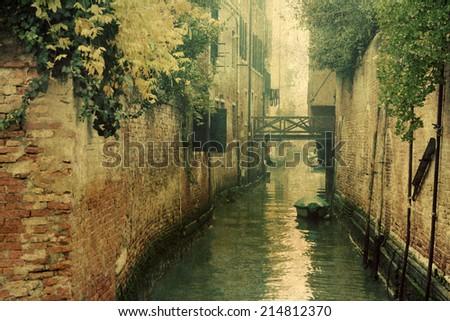 Venice - vintage photo - stock photo